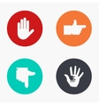 modern hand colorful icons set vector image vector image