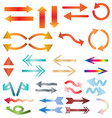 multicolors arrow icon on white background colors vector image