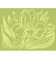 Narcissus spring flower tattoo drawing vector image vector image