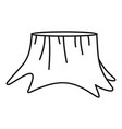 old stump icon outline style vector image