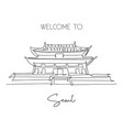 one continuous line drawing gyeongbokgung palace vector image