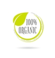 Organic product emblem on white background vector image vector image
