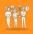 people talking and thinking vector image vector image