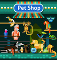 Pet Shop Background vector image vector image