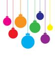 Plain Christmas Balls vector image vector image