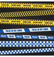 Police Warning Tapes vector image vector image