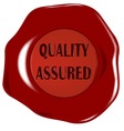 Quality Assured Seal vector image