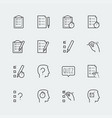 quiz related icon set in outline style vector image