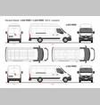 renault master cargo van mwb l3 rwd 2014-present vector image vector image