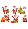 santa claus activities poster vector image vector image