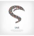 save liberty shape vector image