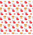 seamless pattern christmas items in flat style vector image