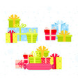 set different colorful gift vector image vector image
