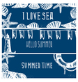 set hand drawn sea themed banners vector image vector image