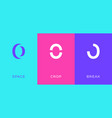 set number 0 minimal logo icon design template vector image vector image