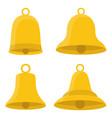 set of bells design vector image