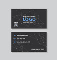 set of modern creative and clean business card vector image vector image