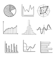 Sketched business graphs and charts vector image vector image