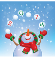 snowman2014 vector image vector image