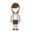 standing woman design vector image