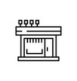 store front bakery icon outline log vector image vector image