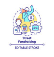 street fundraising concept icon vector image vector image