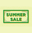 summer sale background template with retro vector image vector image