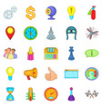 temporary difficulty icons set cartoon style vector image vector image