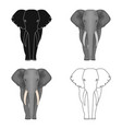 the elephant the biggest wild animal african vector image vector image