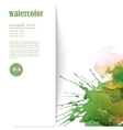 watercolor background with space for text vector image vector image