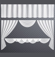 white transparent curtains open vector image vector image