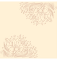 Background with narcissus spring flower drawing vector image