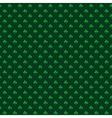 St patrick pattern green vector image