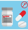Medical capsule containers tablets and pills vector image