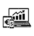 stock exchange icons exchange trades vector image