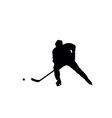 ice hockey silhouettes vector image