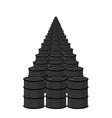 Oil in barrel Many black fuel Arab oil reserves vector image