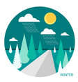 winter landscape in the style of flat vector image
