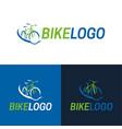 bike icon and logo vector image