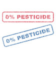 0 percent pesticide textile stamps vector image vector image
