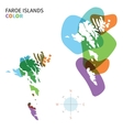 Abstract color map of Faroe Islands vector image vector image