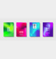 abstract modern design background colorful neon vector image vector image