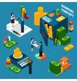 Banking Isometric Design Concept set vector image