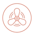 Boat propeller line icon vector image vector image