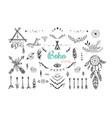 boho mystic collection arrows decor elements vector image