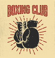boxing club hand drawn boxing gloves on grunge vector image vector image