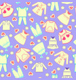 bright pattern with colorful cute cartoon cute vector image