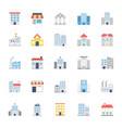 buildings colored icons set 1 vector image vector image