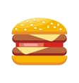 Burger Hamburger Isolated Flat Design vector image vector image