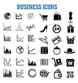 Business finance shopping and retail flat icons vector image